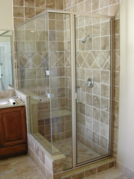 Semi Frameless Shower Enclosures diamond glass and mirror • dgmglass • birmingham, alabama